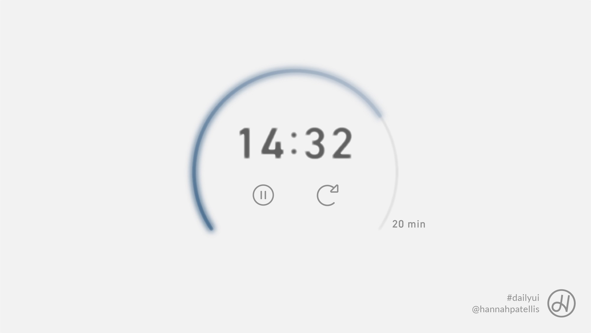 Countdown timer component user interface design